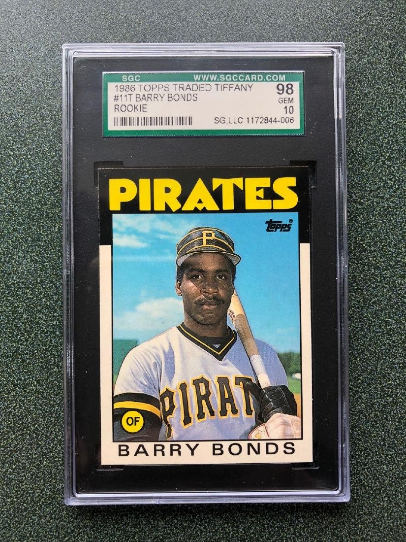 1986 Topps Traded Barry Bonds Tiffany #11T Rookie SGC98