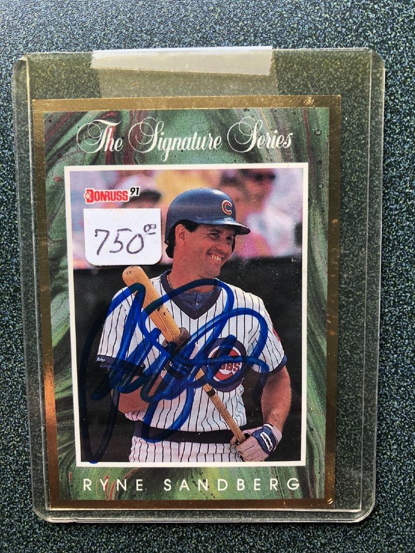 1991 Donruss Signature Series Ryan Sandberg #198/5000