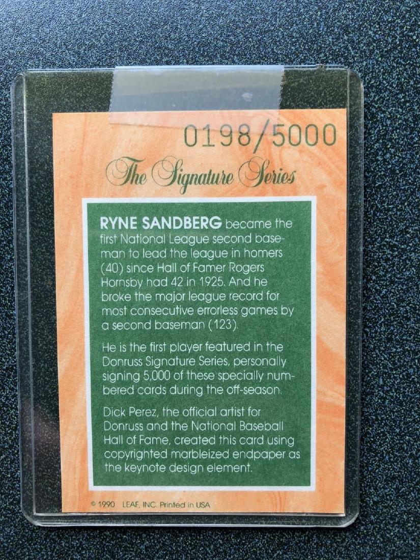 1991 Donruss Signature Series Ryan Sandberg #198/5000 - 2
