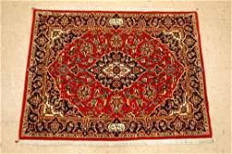 "Antique Signed ""Shad Sar"" Persian Kashan Rug 2.6x3.3"
