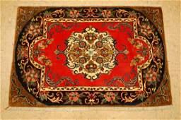Antique Kork Wool silk Persian Kashan Rug 2.3x3.3