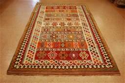 Antique Persian Shiraz Qashkai Kilim Nomadic Rug 5.6x10
