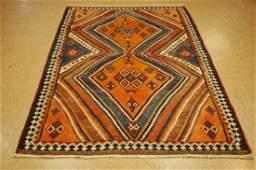 Antique Persian Shiraz Qashkai Kilim Nomadic Rug 4.9x7