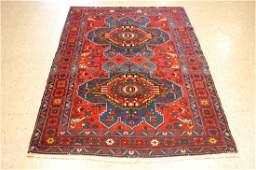Antique Detailed Persian Senneh Rug 4x6.5