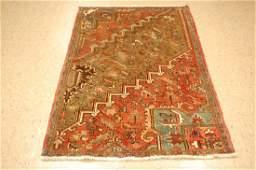 Antique Persian Heriz Serapi Sampler Rug 3.5x5