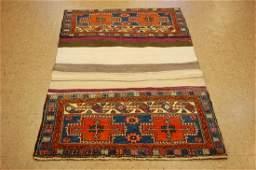 Antique Persian Heriz Serapi Cargo Cover Rug 3.3x5.1
