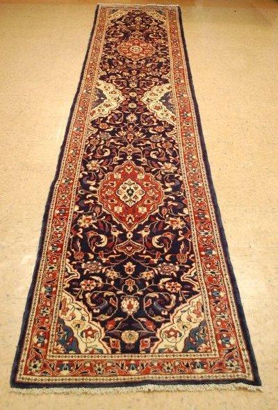 Antique Detailed Fine Persian Sarouk Rug 2.7x14.2