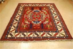 Caucasian Shirvan kazak Design Afghan Chobi Rug 6.4x7.8