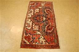Antique Persian Heriz Serapi Sampler Rug 2.4x5.2