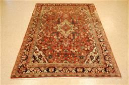 Antique Detailed Persian Sarouk Farahan Rug 4.3x6.10