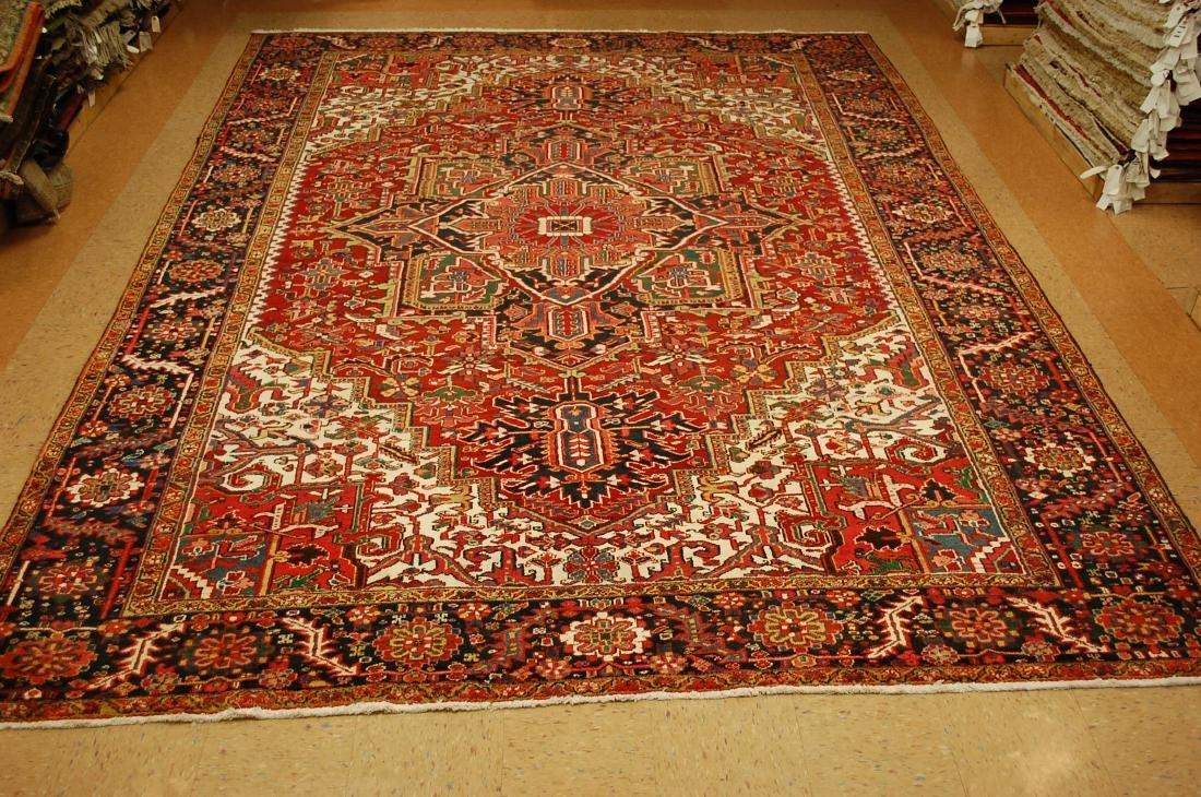Antique Fine Persian Heriz Serapi Rug 10x14