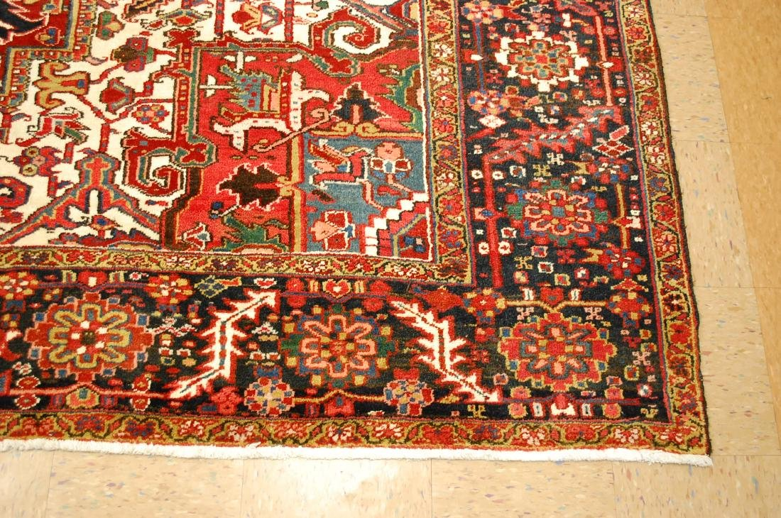 Antique Fine Persian Heriz Serapi Rug 10x14 - 3