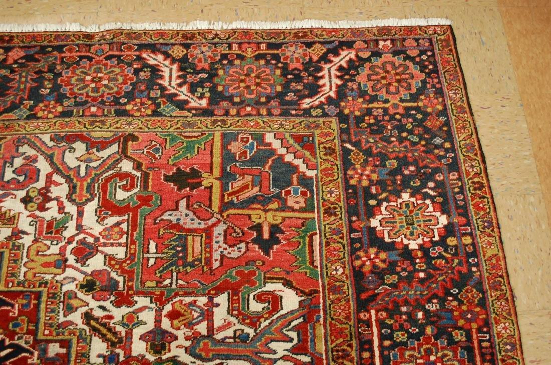 Antique Fine Persian Heriz Serapi Rug 10x14 - 4
