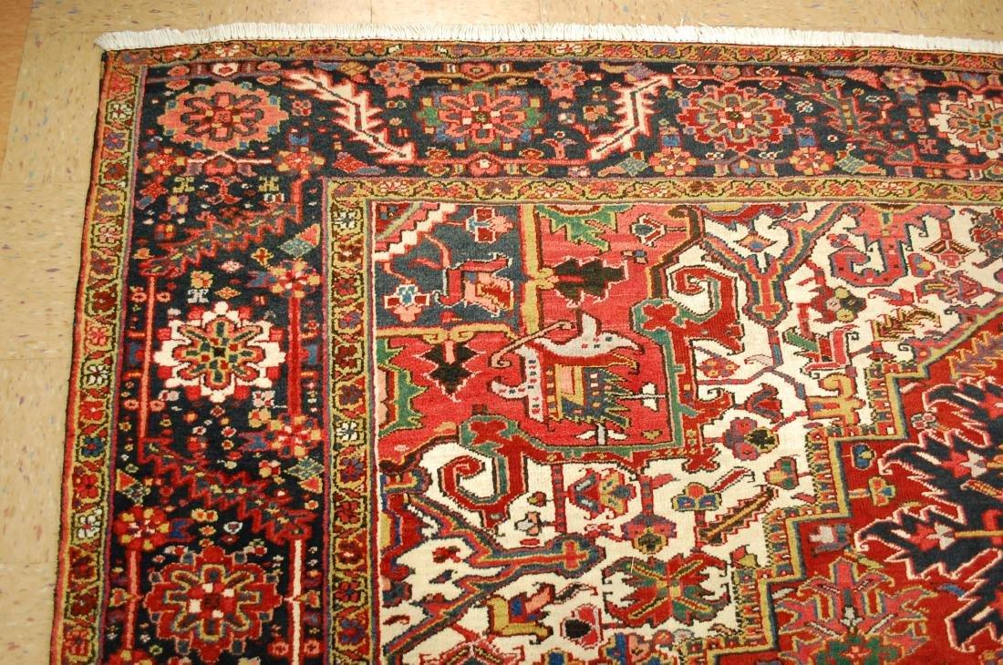 Antique Fine Persian Heriz Serapi Rug 10x14 - 5