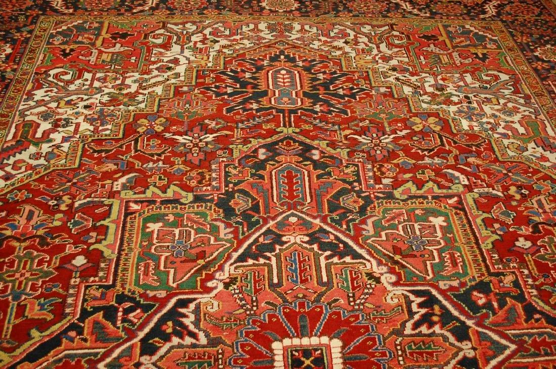 Antique Fine Persian Heriz Serapi Rug 10x14 - 7