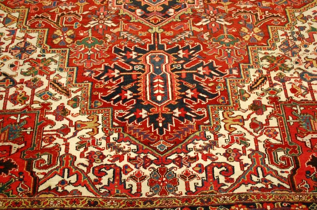 Antique Fine Persian Heriz Serapi Rug 10x14 - 8