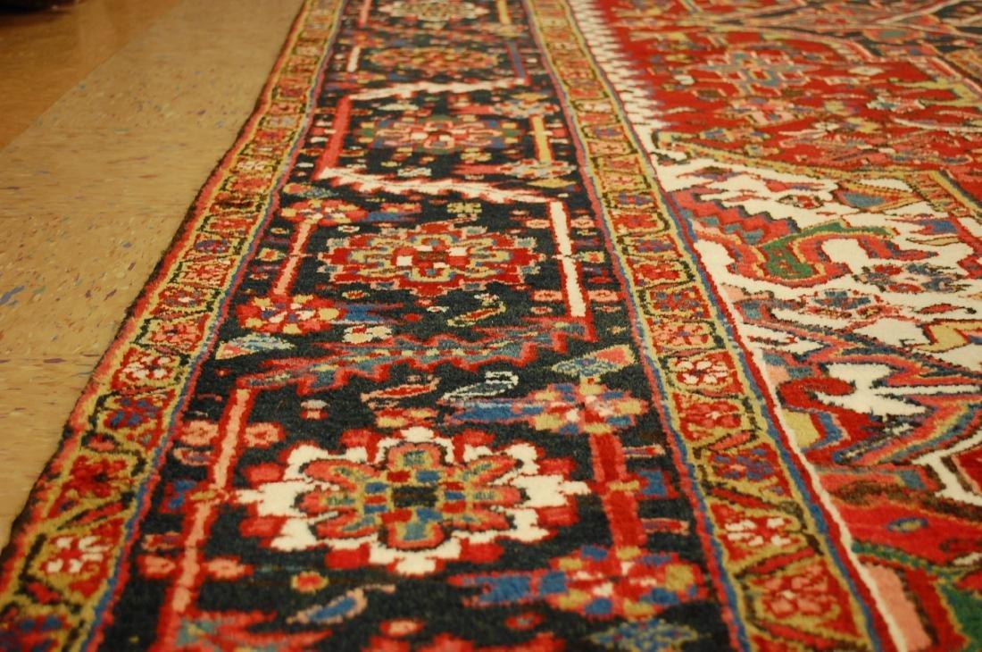 Antique Fine Persian Heriz Serapi Rug 10x14 - 9