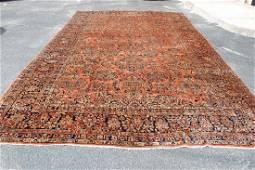 Antique Fine Persian Sarouk Mohajeran Rug 10.5x17