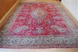Antique Kork Wool Persian Lavar Kerman Rug 11.10x14.9