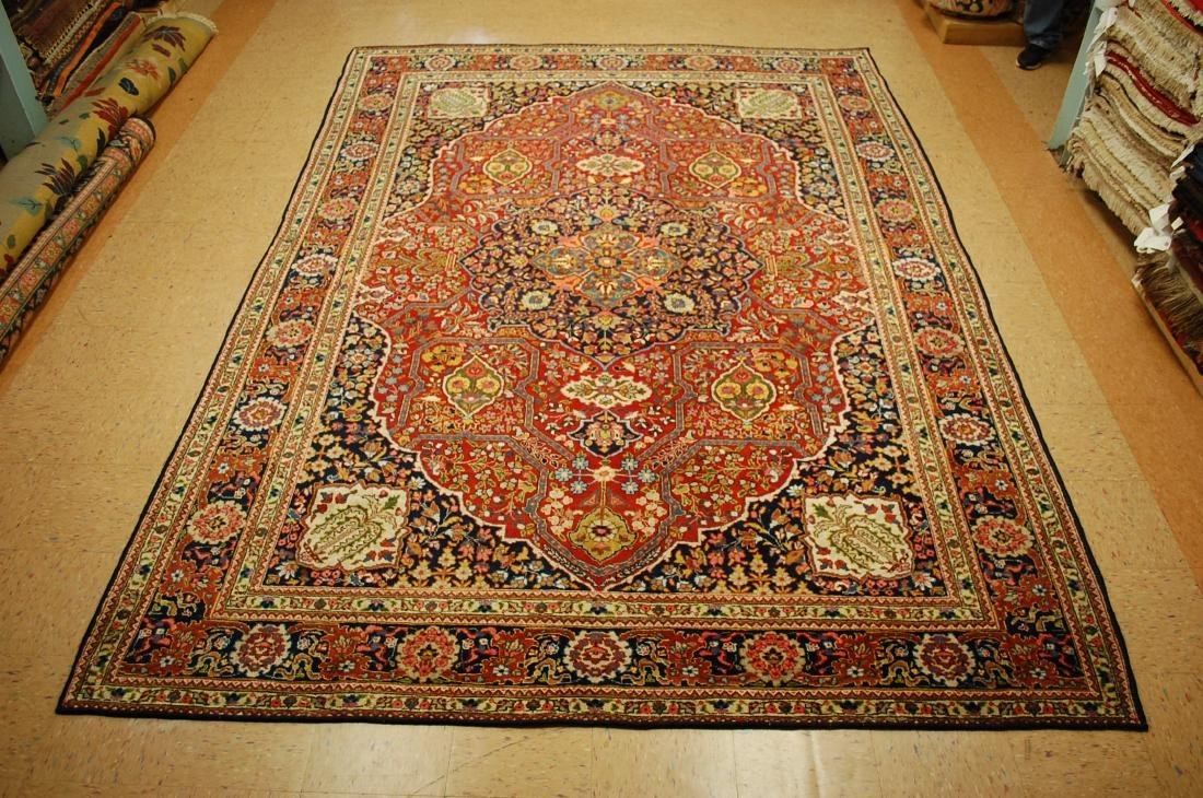 Antique Ferahan Design Persian Tabriz Rug 8.3x11.8
