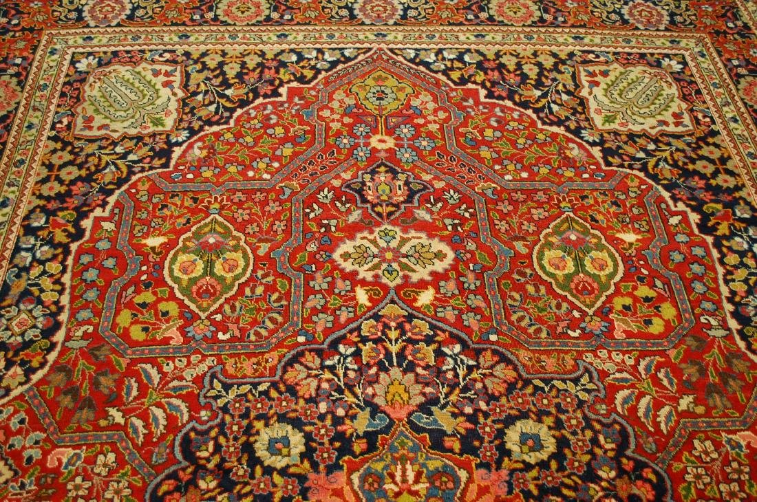 Antique Ferahan Design Persian Tabriz Rug 8.3x11.8 - 6
