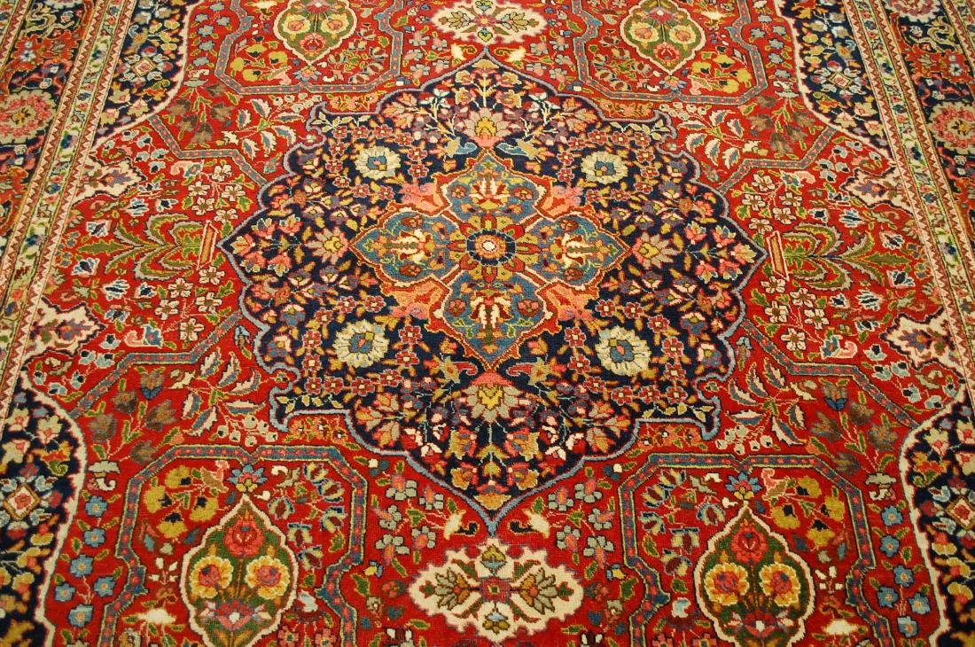 Antique Ferahan Design Persian Tabriz Rug 8.3x11.8 - 7