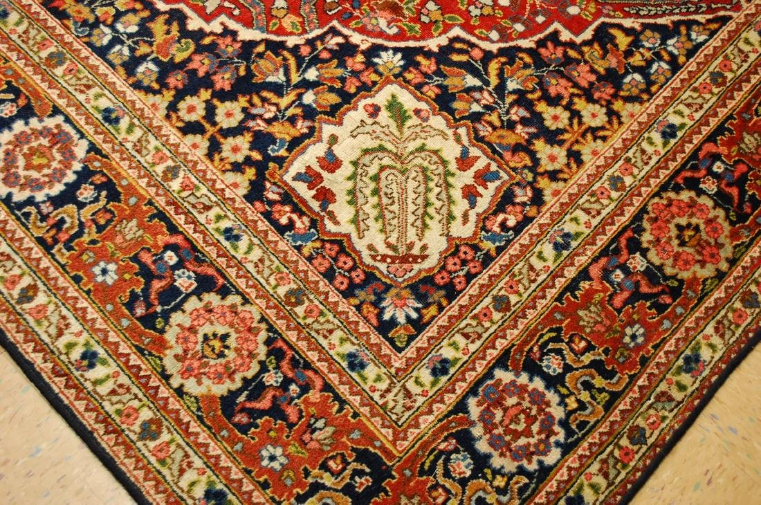 Antique Ferahan Design Persian Tabriz Rug 8.3x11.8 - 8