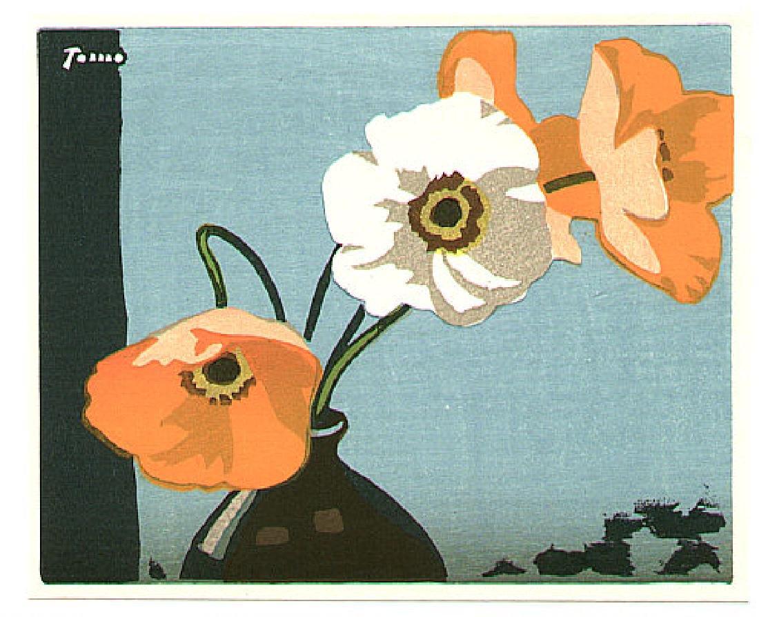 Inagaki Tomoo Woodblock Poppies