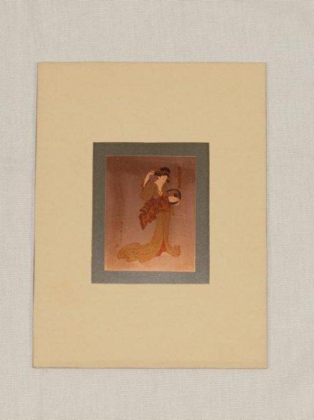 Kikukawa Eizan Copper Print Courtesan