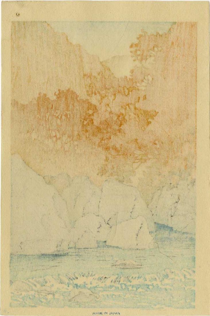 Hasui Kawase Woodblock Autumn at Shiobara - 2