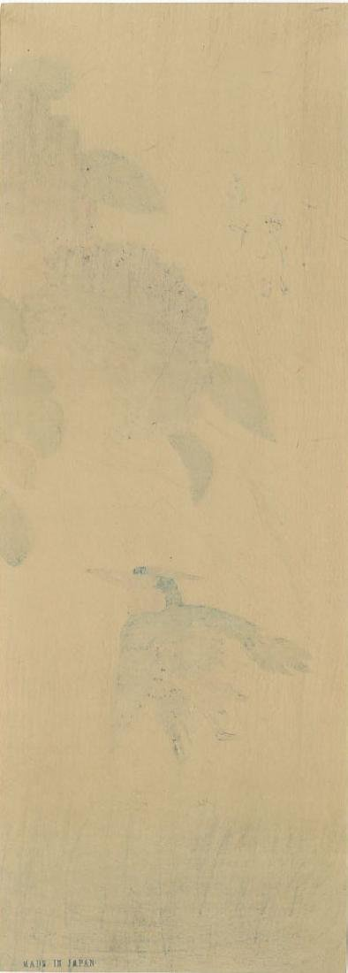 Ando Hiroshige Woodblock Kingfisher and Hydrangea - 2