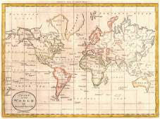 Chart of the World On Mercator's Projection.