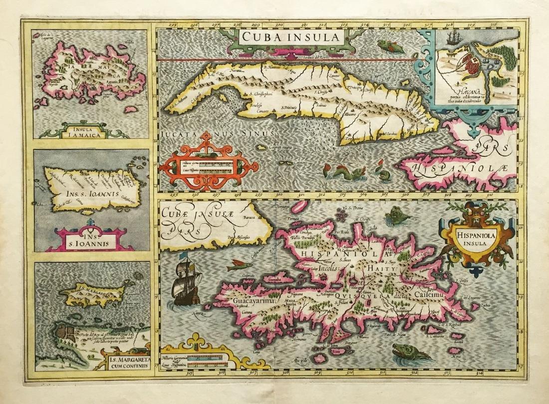 Mercator/Hondius: Composite West Indies Map