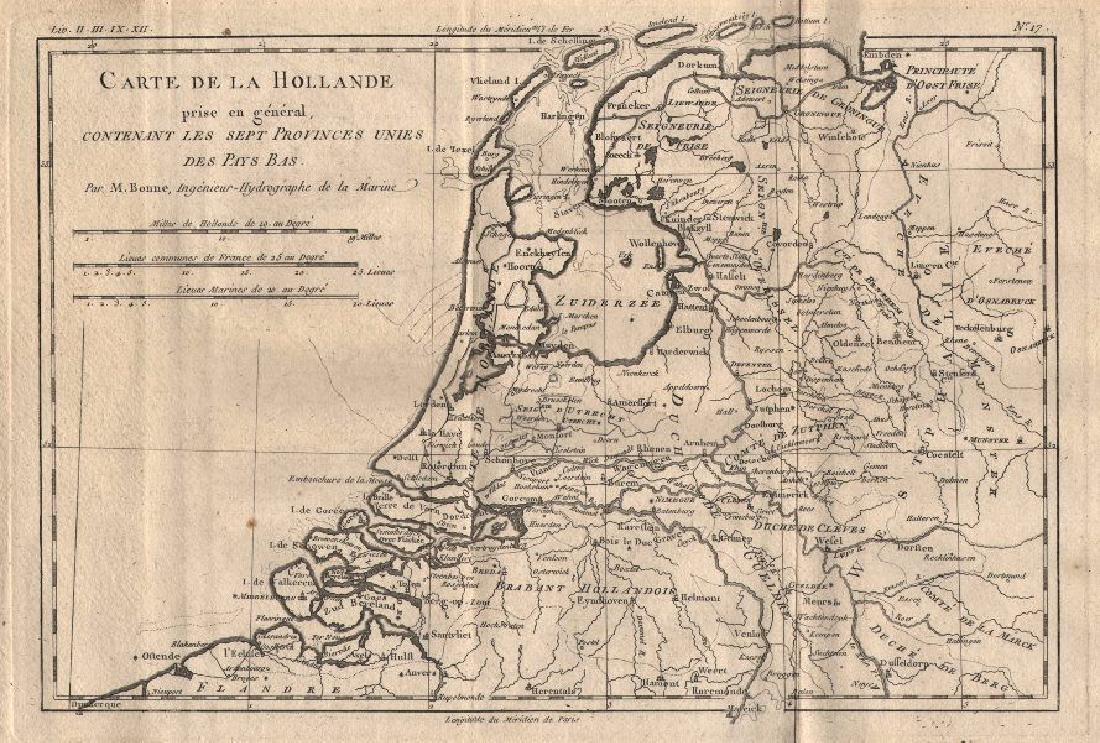 Carte de la Hollandecontenant les Sept Provinces.