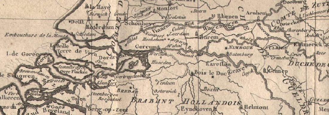 Carte de la Hollandecontenant les Sept Provinces. - 2