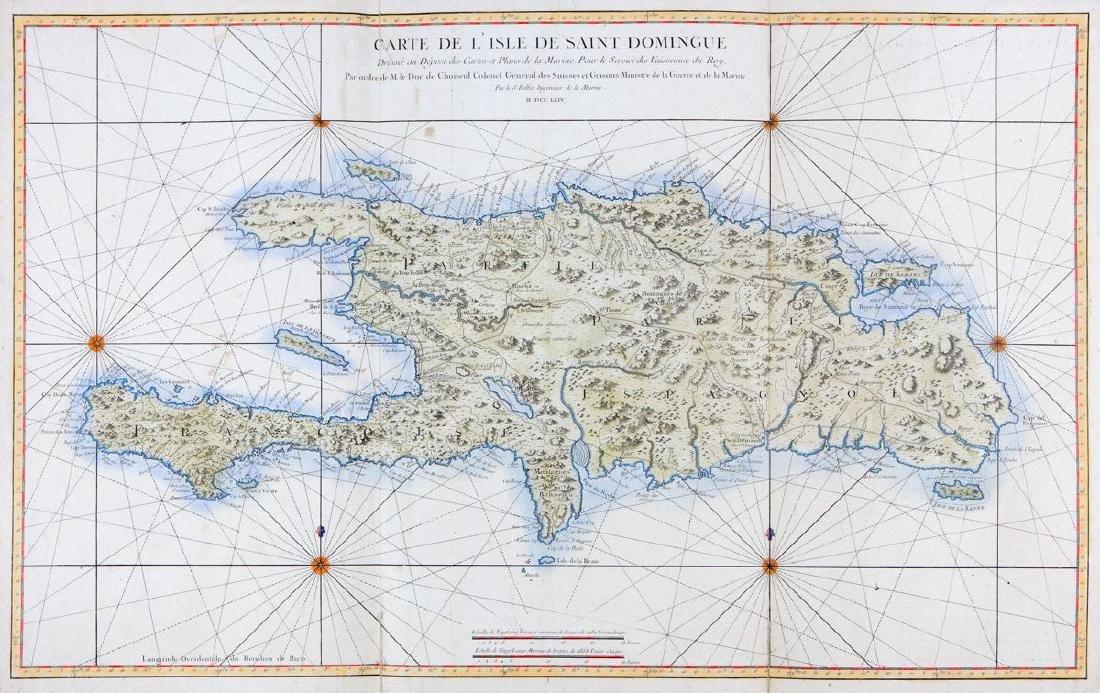 Bellin: Large Hispaniola Map