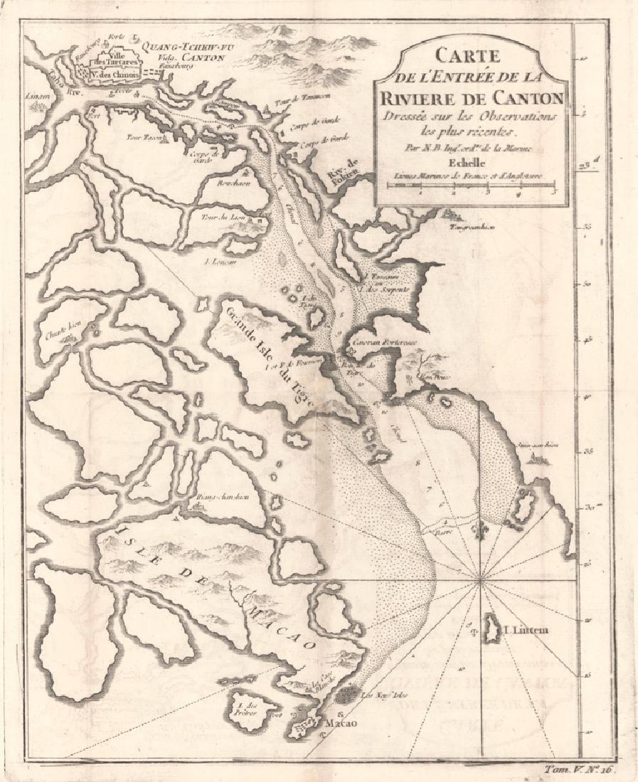 Carte De L'entree De La Riviere De Canton Dressee Sur