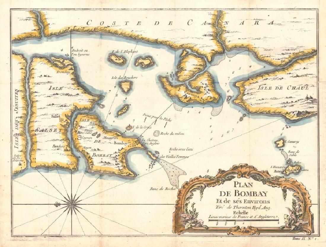 Plan De Bombay Et De Ses Environs