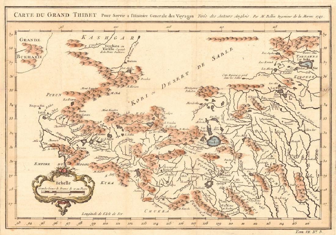 Carte Du Grand Thibet