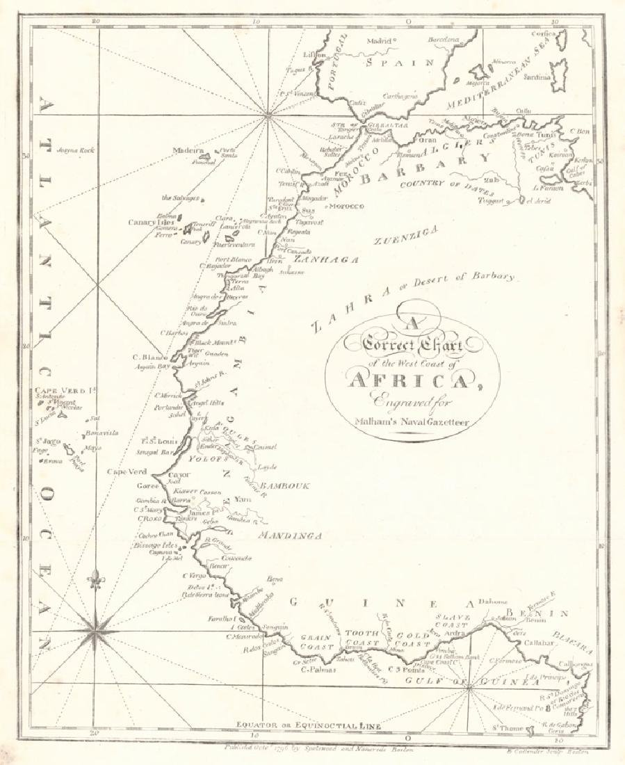 Correct Chart of the West Coast of Africa,