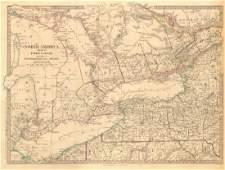 GREAT LAKES. Upper Canada districts <1849 Lake Huron