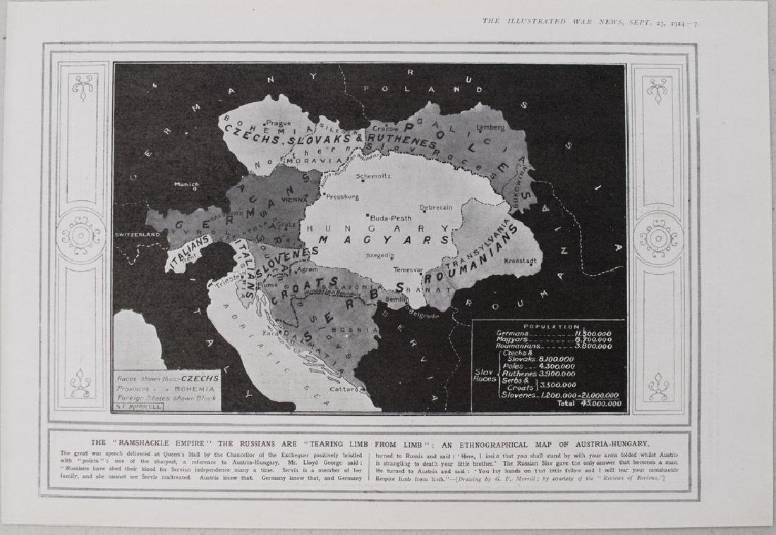 1914 Morrell Enthnographical Map of Austria-Hungary --