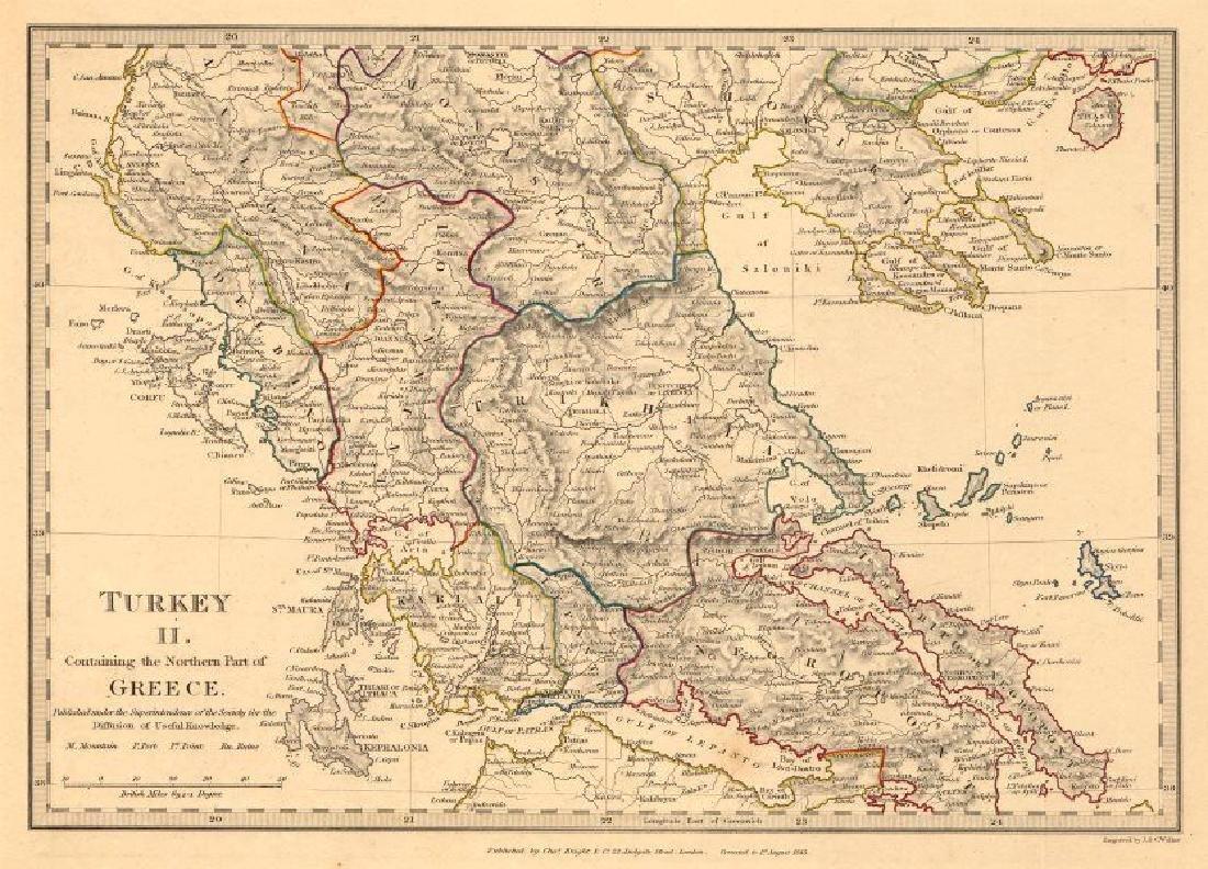 GREECE. Corfu Ionian Euboea Kephalonia Saloniki Lepanto