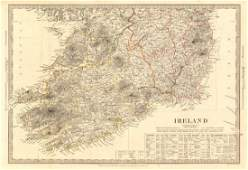 IRELAND South Sheet. Population by counties & towns.