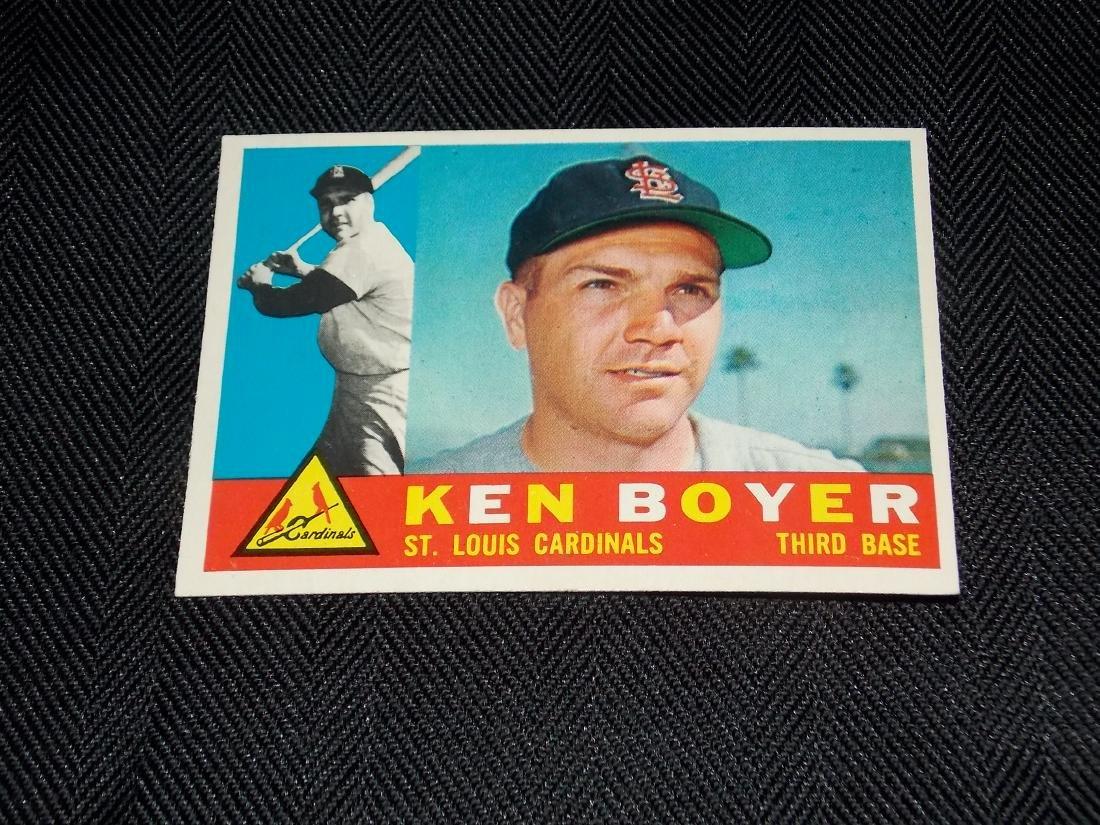 1960 Topps, KEN BOYER, St. Louis Cardinals