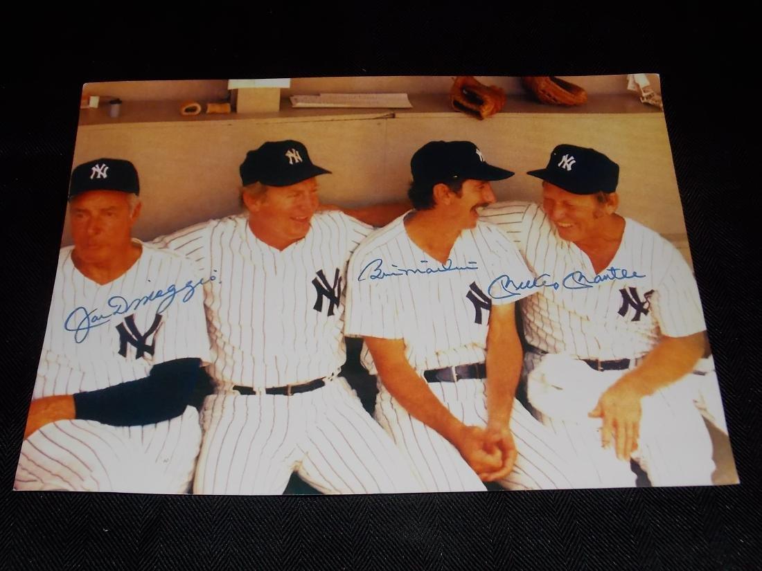 Joe DiMaggio, Billy Martin, MICKEY MANTLE, Autographed