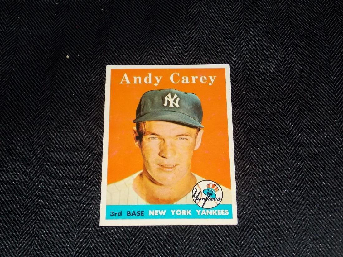 1958 Topps Andy Carey, New York Yankees