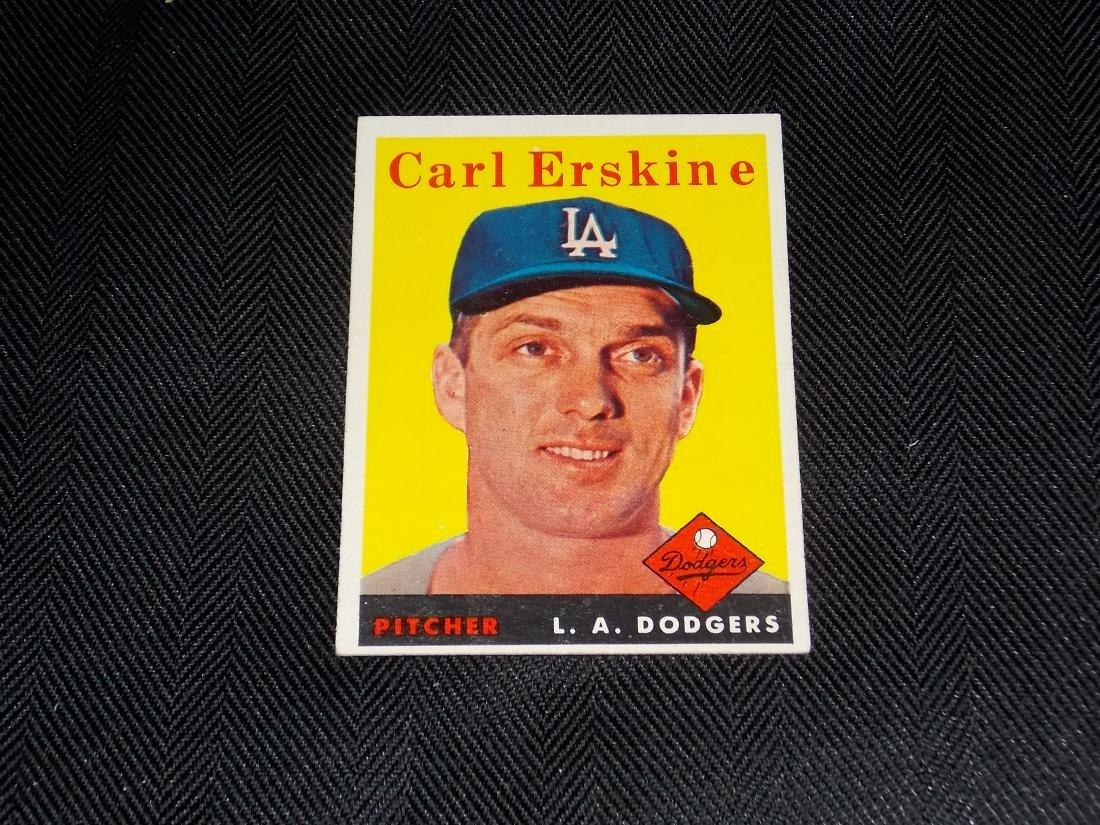 1958 Topps Carl Erskine, L.A. Dodgers