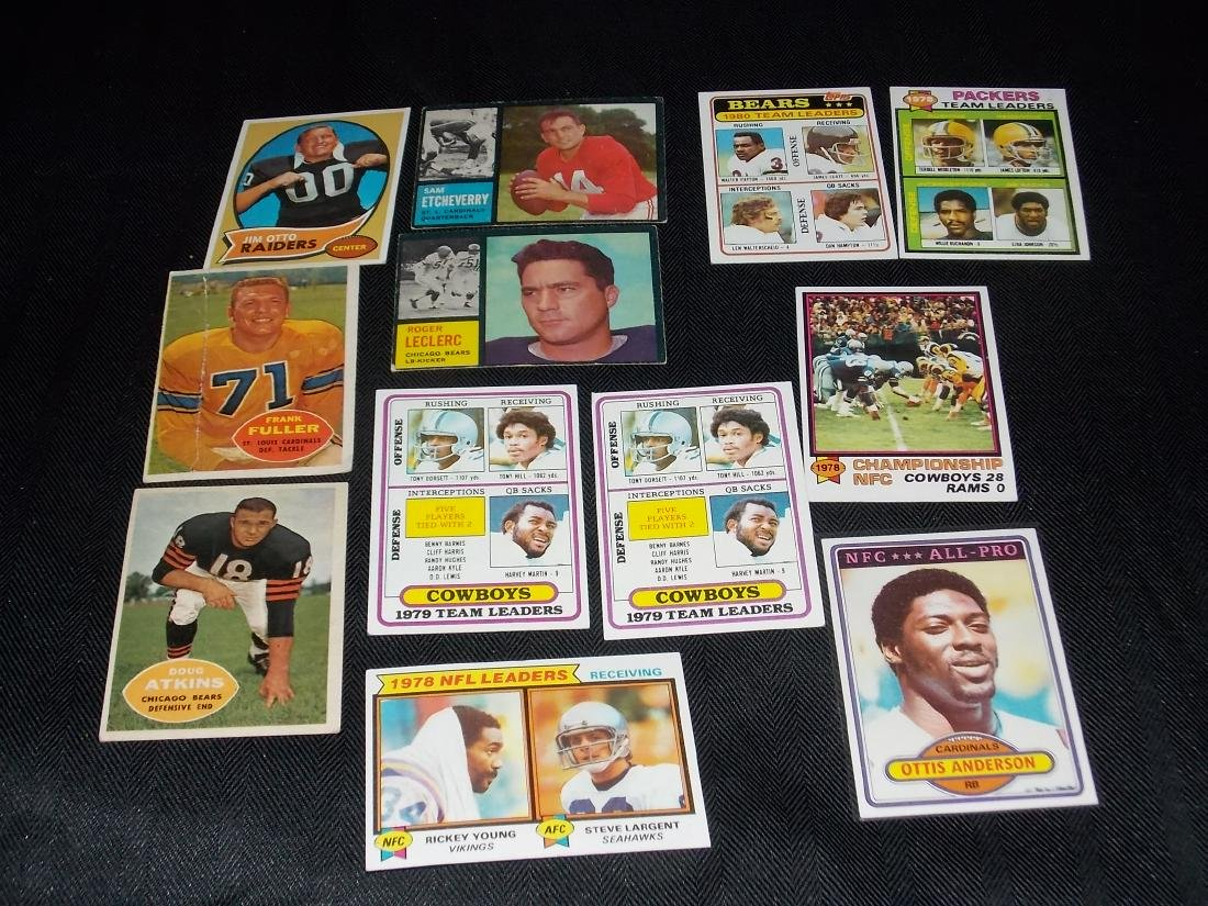 Vintage Football Card Lot