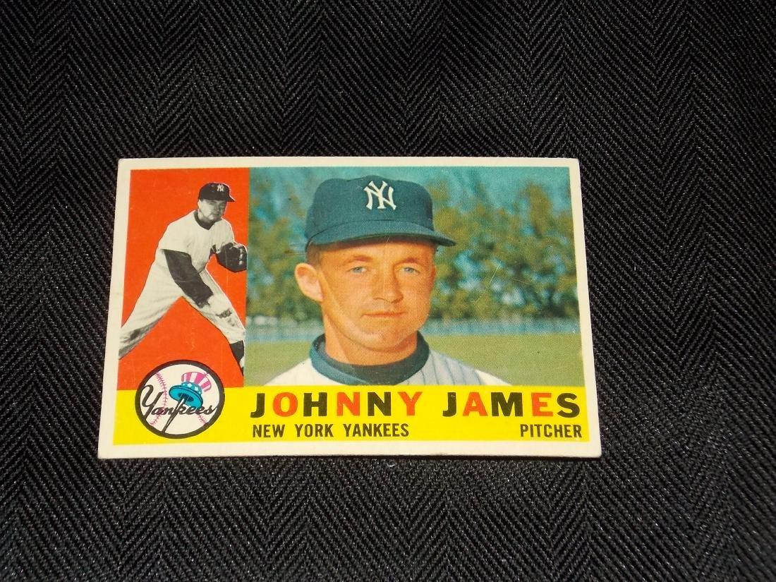 1960 Topps Johnny James, New York Yankees